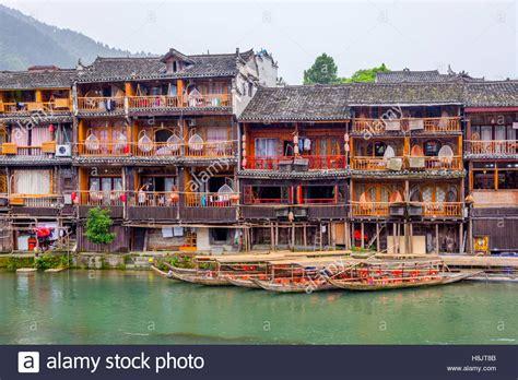 Phoenix Boats Chine Walk by Tuojiang River Stock Photos Tuojiang River Stock Images
