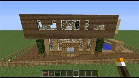 minecraft maison moderne bois bonus
