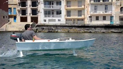 Pedal Catamaran Hydrofoil by Design And Build Of A Prototype Hydrofoil Craft Youtube