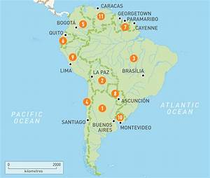 Map of South America |South America Countries | Rough ...