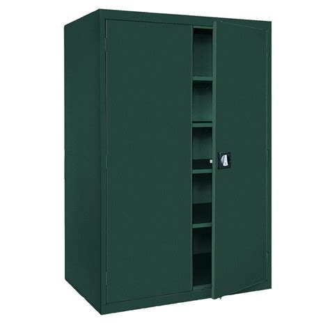 sandusky elite series 78 in h x 46 in w x 24 in d 5 shelf steel recessed handle storage