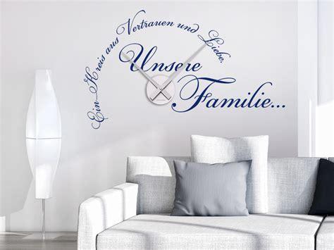 Wandtattoo Uhr Unsere Familie Wanduhr Wandtattoode