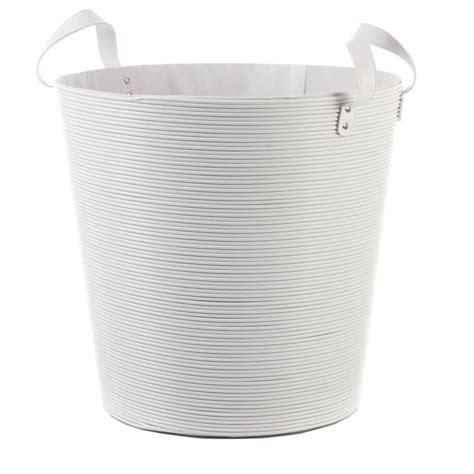 panier 224 linge plastique blanc 40cm