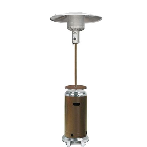 shop garden treasures 41 000 btu stainless steel hammered bronze steel liquid propane patio