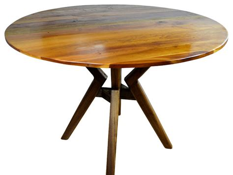 """40"""" Round Dining Table, Walnut Stand  Midcentury  Dining. Storage Shelves With Drawers. Table On Wheels. Pottery Barn Girls Desk. Wide Lap Desk. Desk Lamp Amazon. Front Desk Clerk Responsibilities. White Vanity With Drawers. Drawer Carts"""