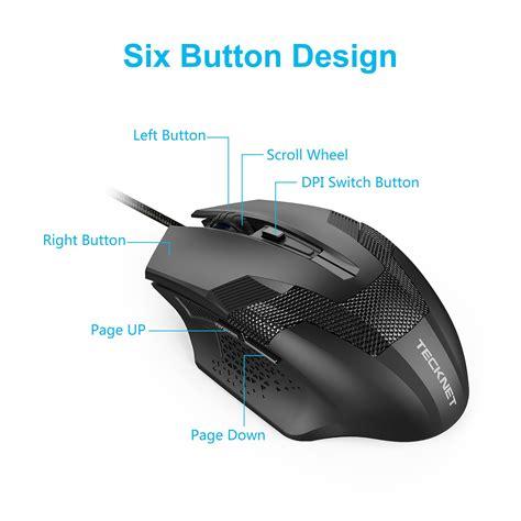 Tecknet Mouse by Tecknet Black Raptor Gaming Mouse 3200 Dpi