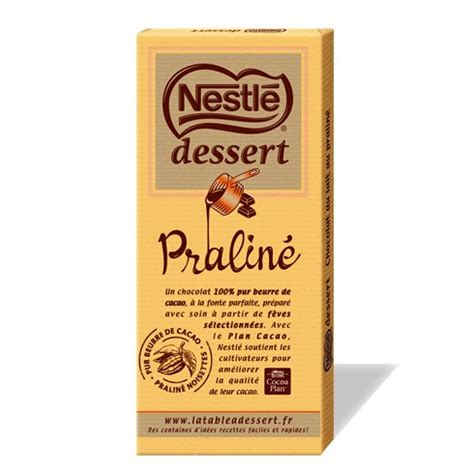tablette de chocolat nestl 233 dessert pralin 233 le club nestl 233 r 233 union