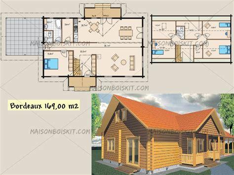 plans gratuits de maisons bois contemporaines toit plat