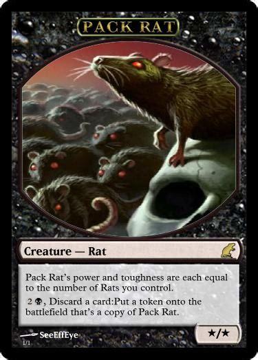 pack rat token by customcardjunkie on deviantart