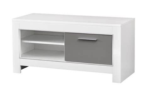 meuble tv pm modena laqu 233 e blanc grise