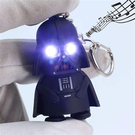 light up led wars darth vader with sound flashlight torch keychain keyring ebay