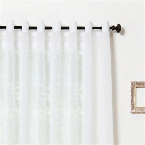 best home fashion wide width crushed voile sheer curtain