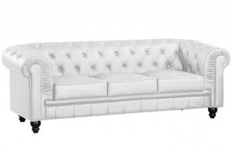 canap 233 chesterfield imitation cuir blanc capitonn 233 3 places playa design en direct de l usine