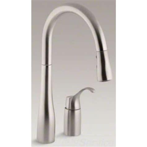 kohler k 647 vs simplice pull kitchen faucet stainless ebay