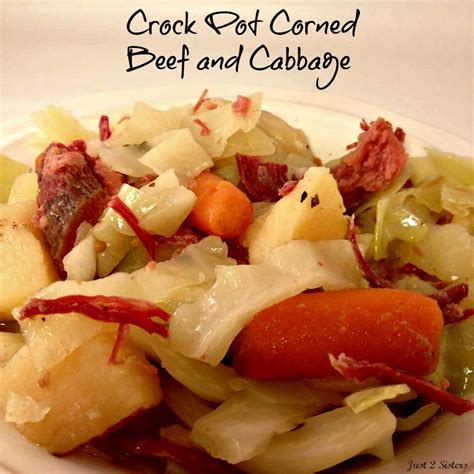 crock pot corned beef and cabbage just 2