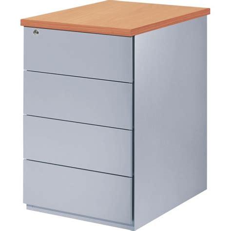 mobilier de bureau eol caisson metallique hauteur bureau sp 4 tiroirs plats