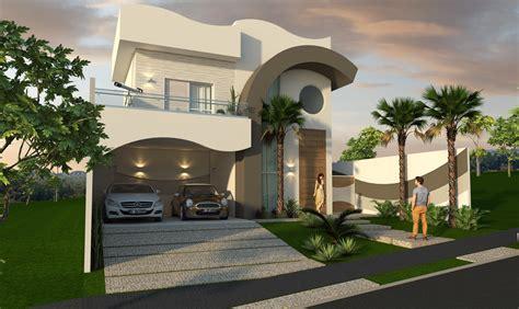 Projeto Casa Alto Padrão 200m2 Térrea Mezanino Fachada