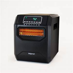Lifesmart Medium Room 1,500-Watt 4-Element Infrared Heater ...