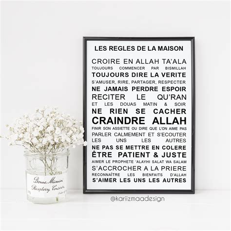 poster les r 232 gles de la maison islam kariizmaa design