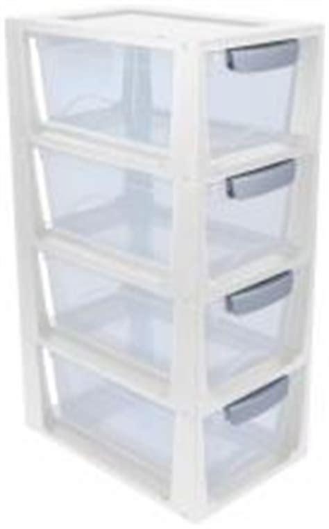 tour de rangement 4 petits tiroirs en plastique 6l