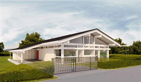 Huf Haus Bungalow  Modernes Fertighaus Aus Holz Und Glas