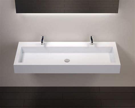 vasques largeur 120 plan vasque suspendue ou 224 encastrer robinetterie largeur 120 cm