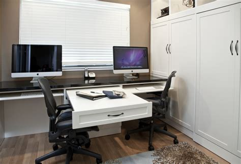 side tilt wall bed custom cabinetry in home office traditional home office san francisco