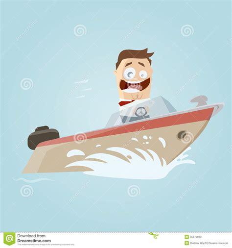 Cartoon Man In A Boat by Retro Cartoon Man On A Boat Stock Photos Image 35875983