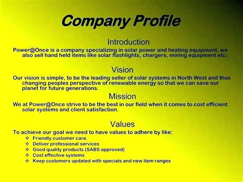 Business Company Profile Template Pdf Free