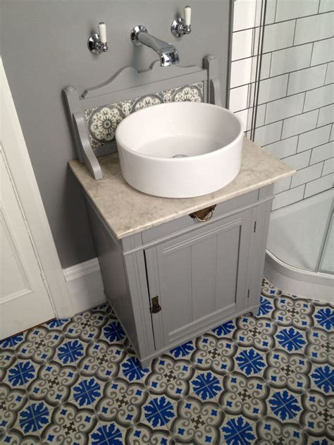 adapted marble topped washstand a junk shop find arc taps from c p hart bespoke