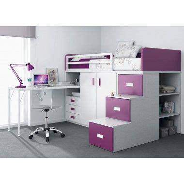 lit superpos 233 avec tiroirs bureau armoire et escalier avec trois tiroirs deco