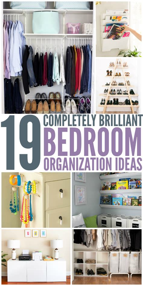 19 Bedroom Organization Ideas