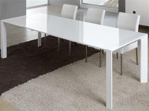 table manger verre et mtal blanc extensible design nara