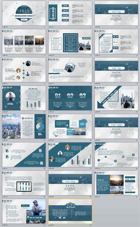 23+ Blue Business Report Professional Powerpoint Templates  The Highest Quality Powerpoint