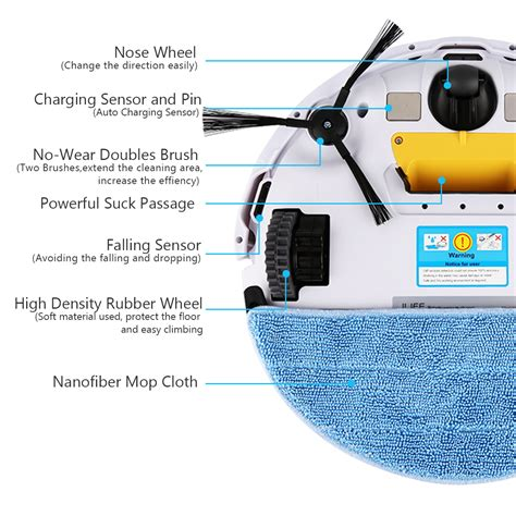ilifev5 smart robot robotic vacuum cleaner automatic recharge floor dust sweeper ebay