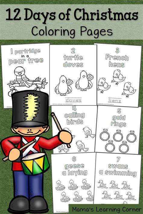 12 Days Of Christmas Coloring Pages  Mamas Learning Corner