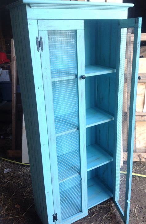 Teal Pantry Cabinet Kitchen Storage Cabinet Pantry By