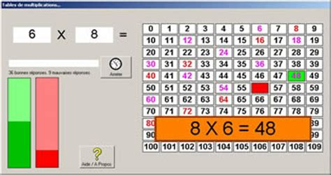 tables de multiplication jeux educatifs en ligne