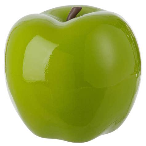 pomme g 233 ante d 233 co c 233 ramique 36 cm vert 61174 achat vente objet deco de jardin sur maginea