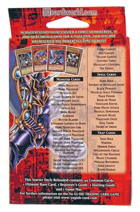 konami yu gi oh yugi kaiba reloaded starter box da card world