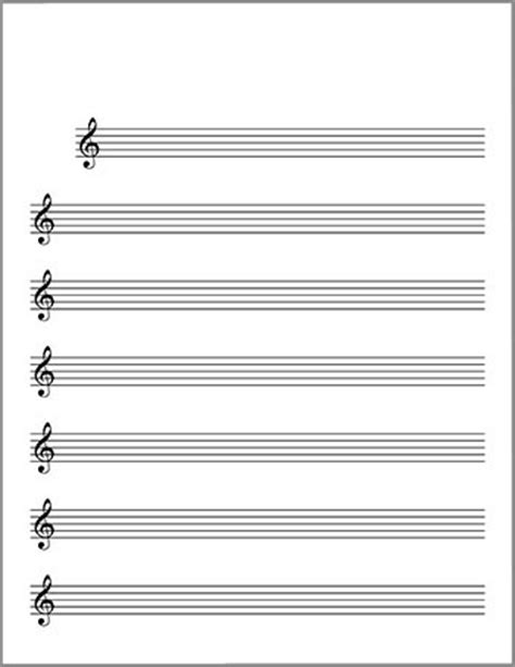 Theory Substruction Paper Template by Free Printable Piano Sheet Music Blank Printable Blank
