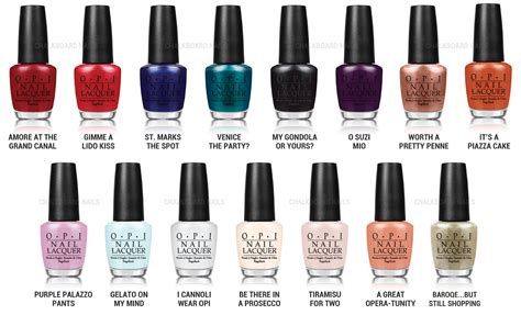 Opi Venice Nail Polish Collection