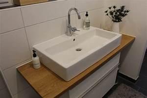 Waschtischplatte Mit Schublade : bad unterschrank holz h ngend ~ Markanthonyermac.com Haus und Dekorationen