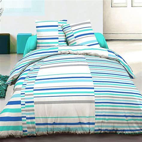 grossiste parure housse de couette 220x240 cm 100 coton vision bleu b2b