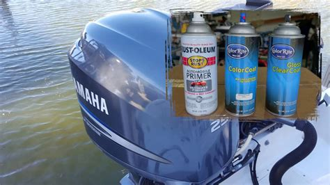 Yamaha Outboard Motor Videos by Yamaha Outboard Engine Cover Spray Can Painting Youtube