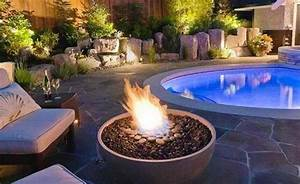 Gas Feuerstelle Outdoor : 15 dramatic modern pool areas with fire pits home design lover ~ Markanthonyermac.com Haus und Dekorationen