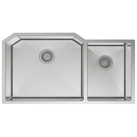 kohler strive stainless steel two bowl kitchen sink 5282 na