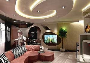 Decken Dekoration Wohnzimmer : deckengestaltung im wohnzimmer erstaunliche abgeh ngte decke ~ Markanthonyermac.com Haus und Dekorationen