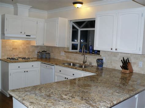 kitchen backsplash ideas white cabinets brown countertop subway tile living traditional medium