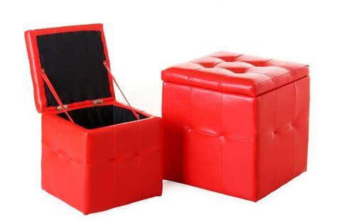 lot de 2 pouf coffre similicuir pouf design pouf g 233 ant pas cher